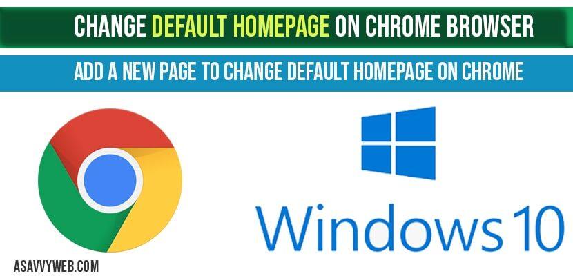 change-default-homepage-chrome