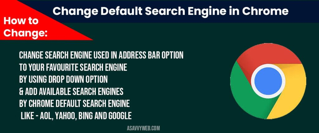 Change default search engine