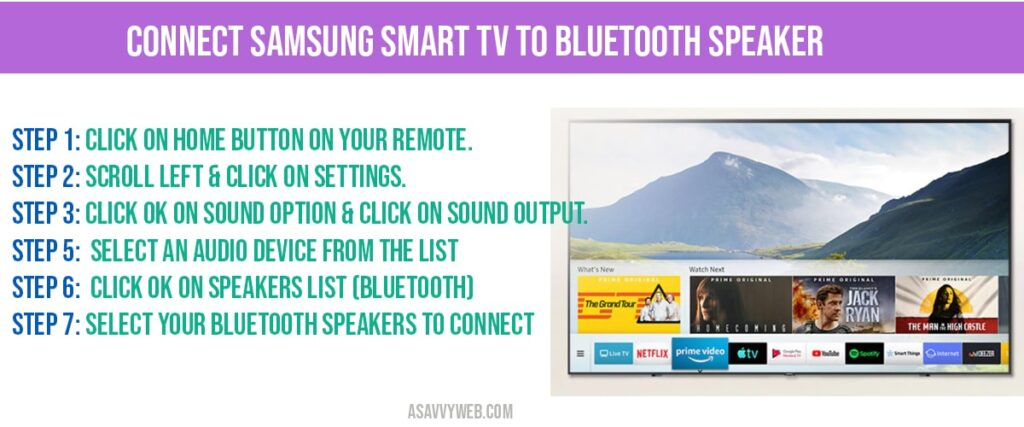 connect samsung smart tv to bluetooth speakers