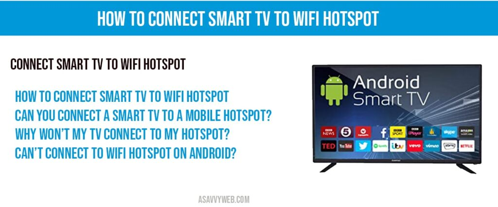 connect smart tv to wifi