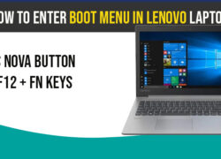 Enter Boot Menu on Lenovo Laptop