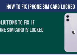 iphone sim card locked