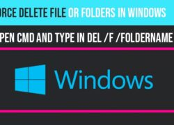 Force delete a folder in windows 10