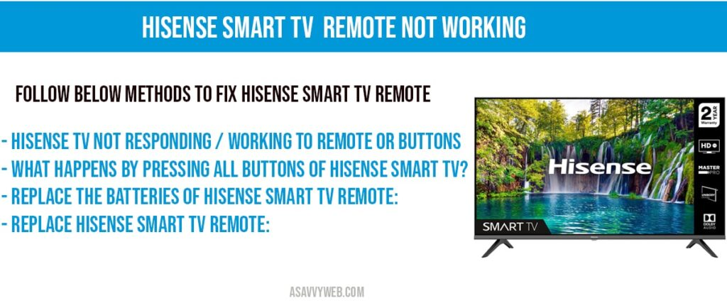 hisense smart tv remote not working