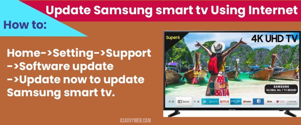 how to Update Samsung smart tv