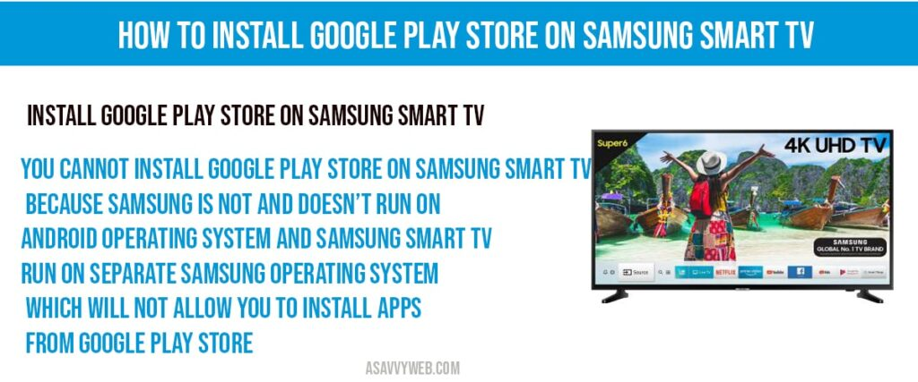Install google play store on samsung smart tv