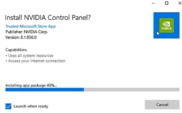 Install NVIDIA Control Panel