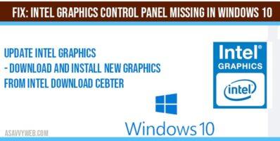 intel graphics control panel missing windows10