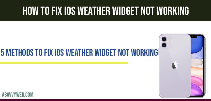 ios weather widget not working