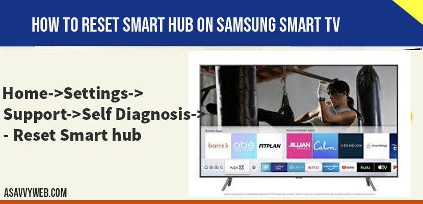 reset Smart hub on samsung smart tv