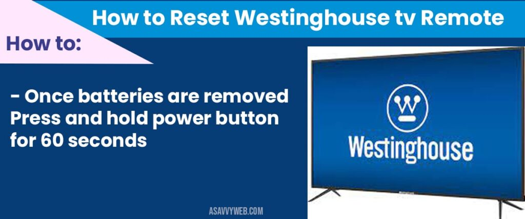 how to reset westinghouse smart tv