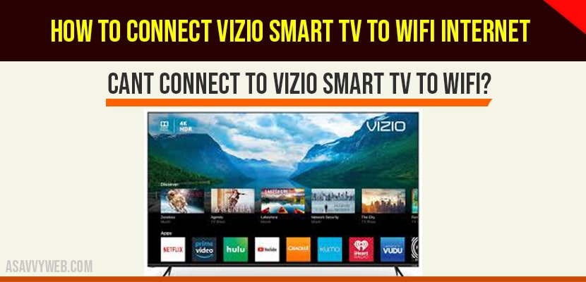 Connect VIZIO Smart Tv to WIFI Internet-min