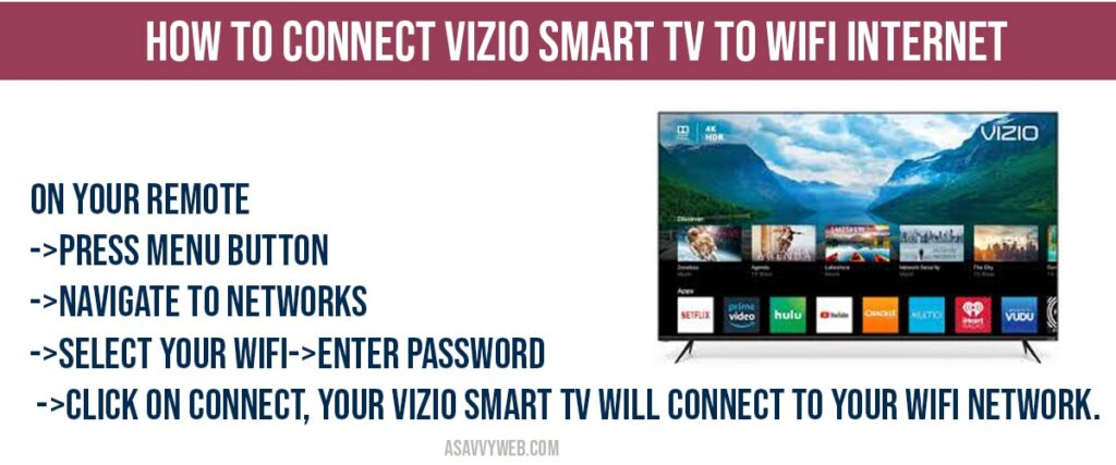 how to connect vizio smart tv to wifi