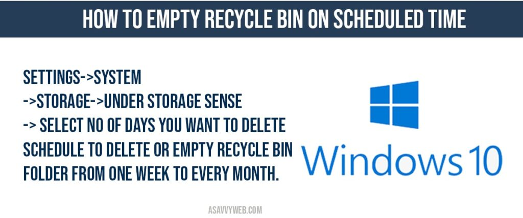 how to fix Empty Recycle Bin on Scheduled Time