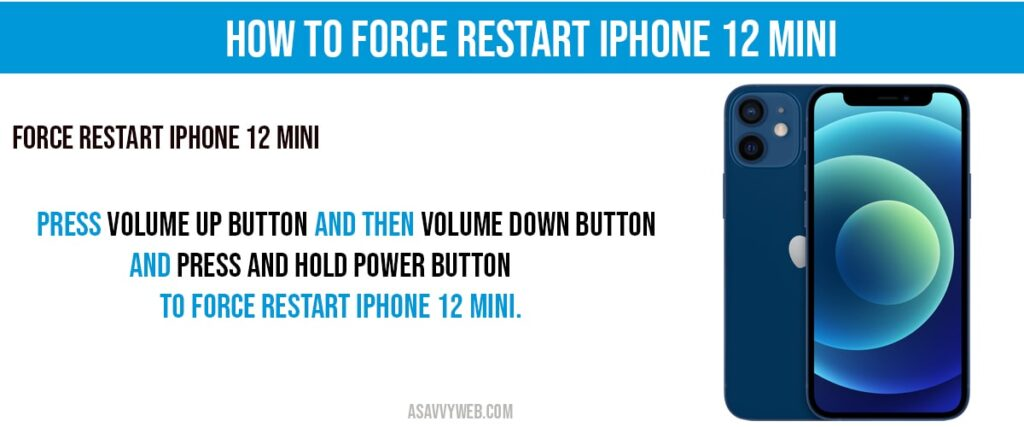 How to Force restart iphone 12 mini