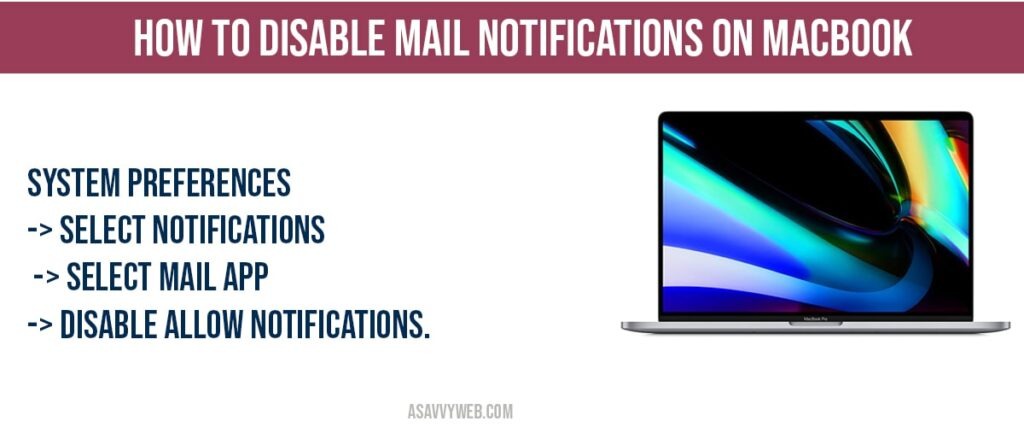 How to Disable and Enable Mail Notifications