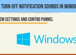 Turn off Notification sounds in windows 10