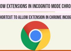 Allow extensions in incognito mode in chrome
