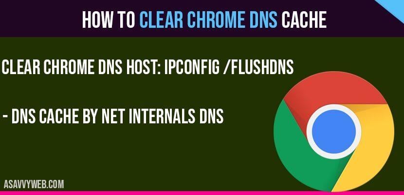 Clear chrome DNS cache