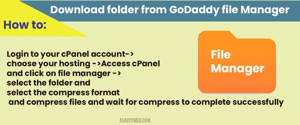 How to download folder from godaddy file manager