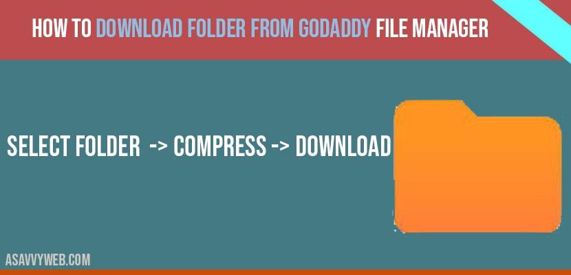 Download folder from godaddy server