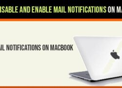 Disable Mail Notifications on macbook