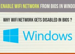 Enable wifi network in bios in windows 10