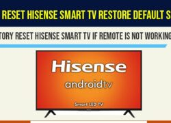 factory reset hisense smart tv