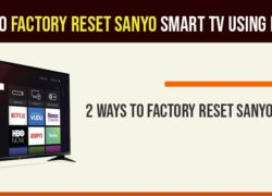 Factory reset sanyo smart tv using remote