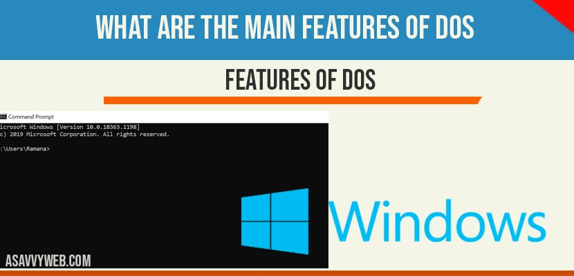 Features of DOS