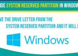 Hide system reserved partition in windows 10