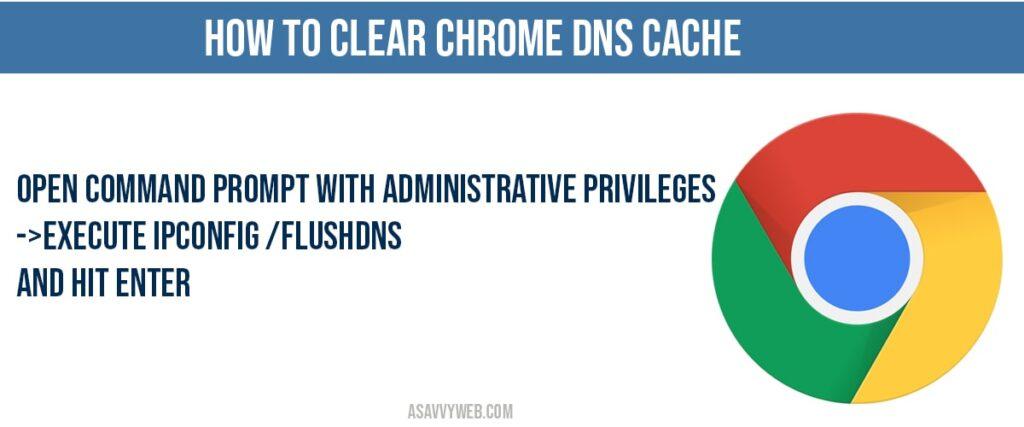 how to clear Clear chrome DNS cache