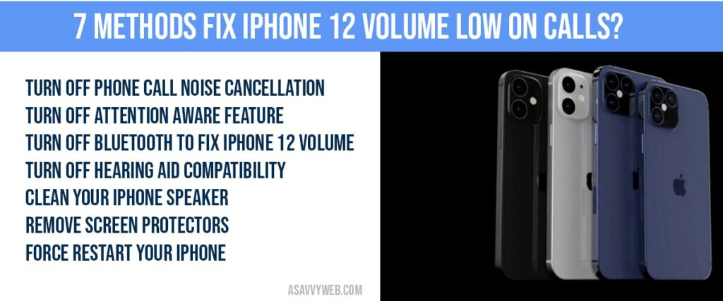 How to fix iphone 12 volume low on calls