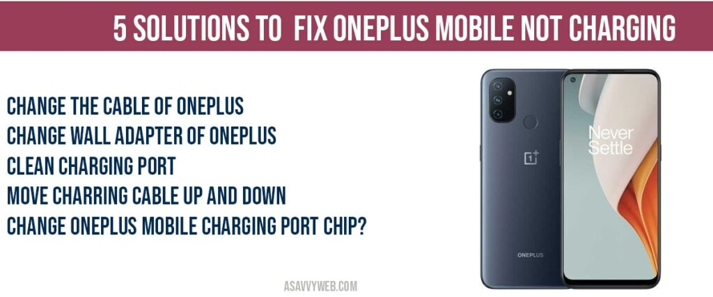 how to fix oneplus mobile not charging