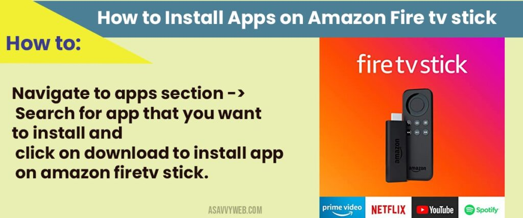 how to install apps on amazon fire tv stick
