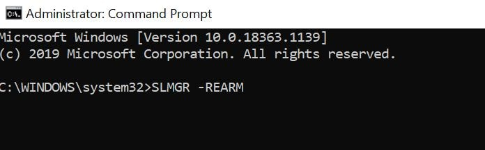 open cmd and type slmgr rearm and hit enter