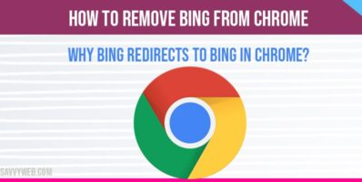 How to remove bing from chrome