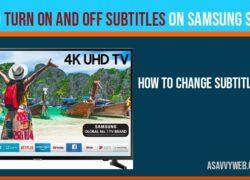 turn on subtitles on samsung smart tv