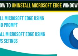 Uninstall Microsoft edge browser in windows 10