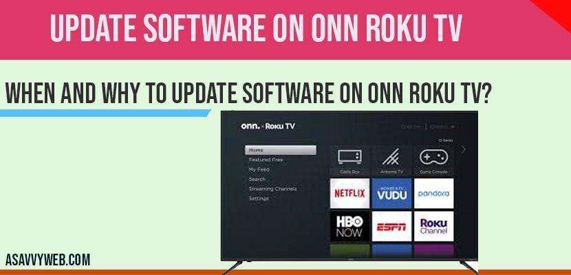 Update Software on ONN Roku tv