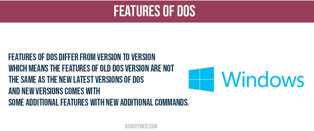 what are features of dos