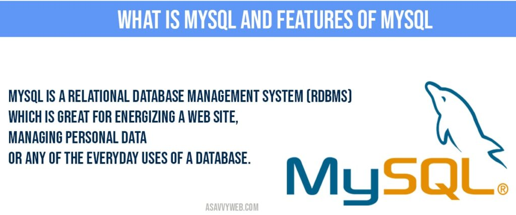 what are the features of MySQL