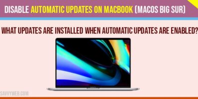 Disable automatic updates on macbook