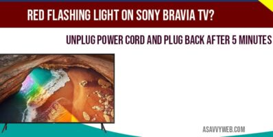 Red flashing light on Sony Bravia-min