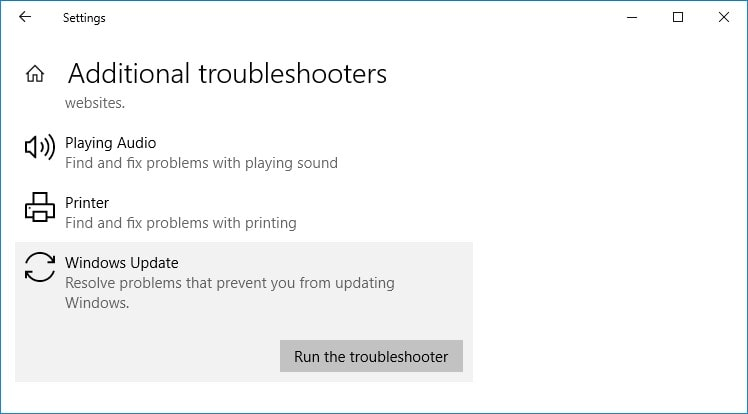 Run the troubleshooter on the computer