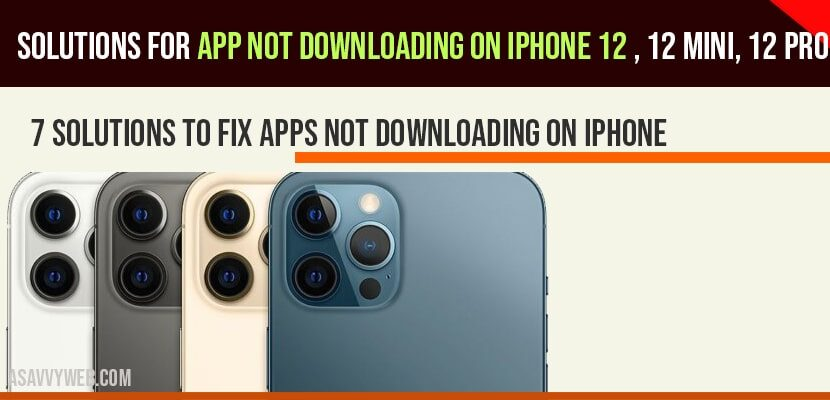 apps not downloading on iphone 12