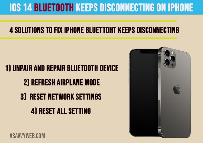 how to fix ios 14 iphone bluetooth keeps disconnecting