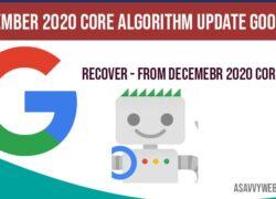 December 2020 core algorithm update