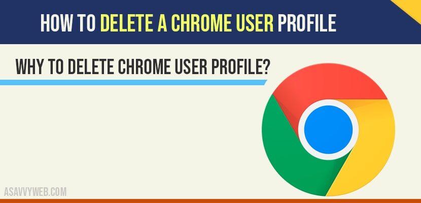 delete chrome user profile