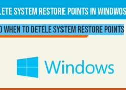 Delete system restore points in windows 10